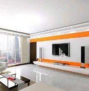 橘色与白色的搭配