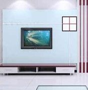 线条组合另类的电视墙