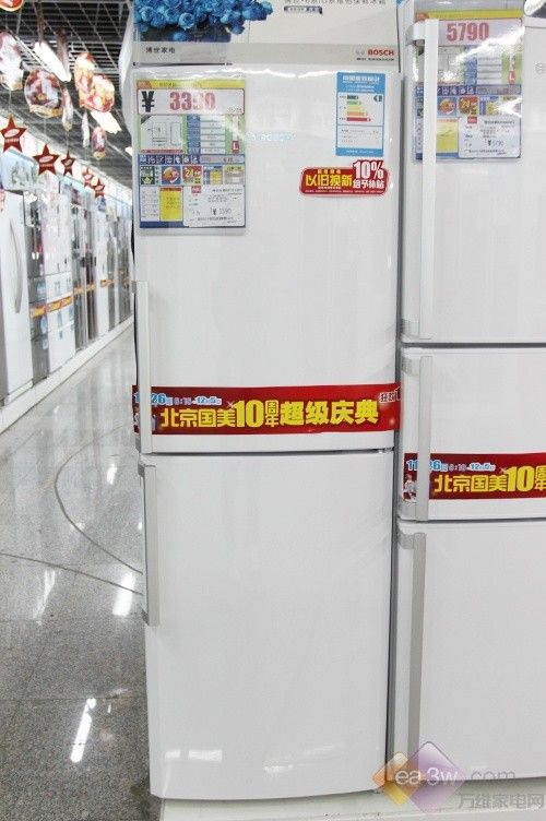 简洁设计受欢迎 博世两门冰箱受欢迎