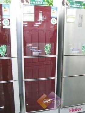 时尚彩晶面板 海尔248升三门冰箱热销