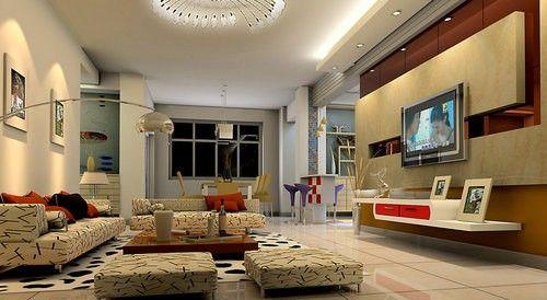 给力客厅装修 电视背景墙效果图大全—万维家电网