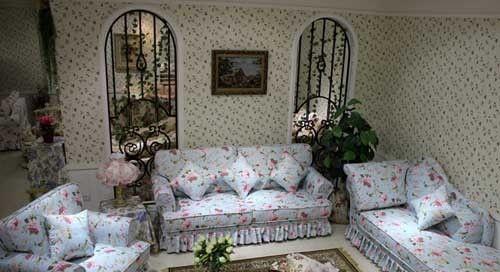 欧式,美式田园风的碎花布艺沙发