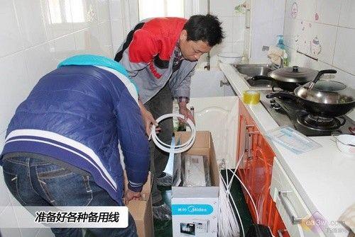 入户全程跟拍 美的净水器安装全过程
