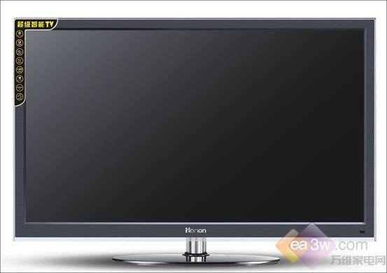 海力42s21-d电视采用了黑色仿金属拉丝材质边框,边框外