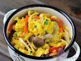 每日一款家常菜:健康营养菌菇炒滑蛋