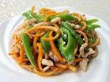 每日一款家常菜:清香橙皮炒肉丝