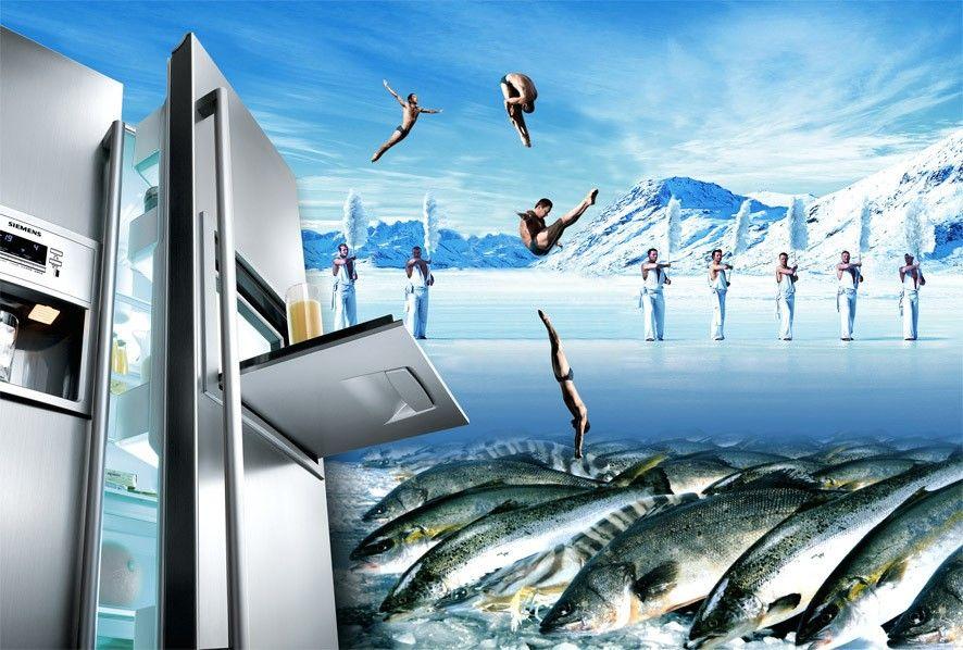 冰箱创意无极限 优秀平面广告设计图赏