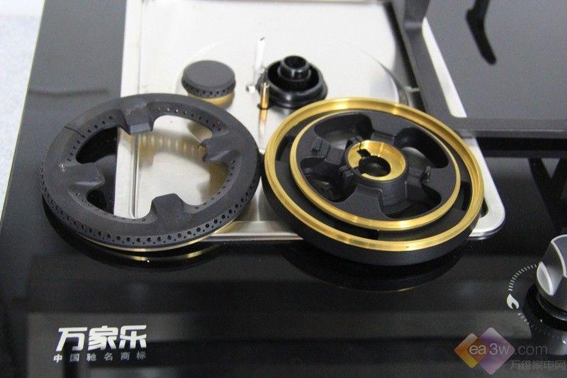 微观察:燃气灶细节拆解图