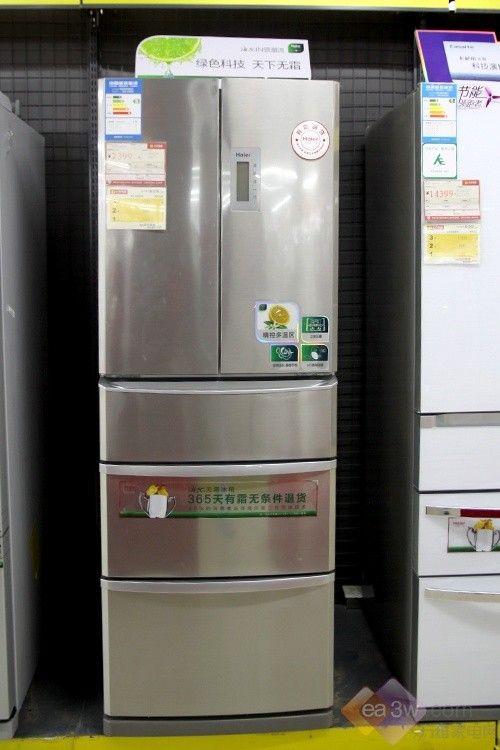 无霜新体验!海尔多开门冰箱卖场热销