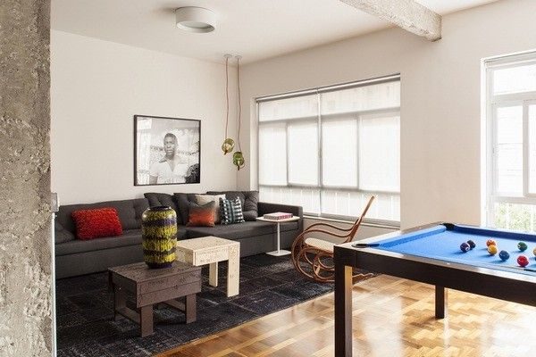 装修如何更MAN?最酷的单身男人公寓