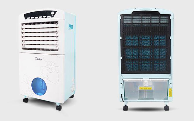防暑推荐4:联创空调扇DF-AF1816C 推荐理由:这款联创空调扇DF-AF1816C外观设计比较低调,超大的出风口设计,增大的了送风的范围,出风量也增大不少。本机配置了遥控器,可远距离进行操作,联创空调扇DF-AF1816C为单冷型的空调扇,内部采用水冷魔方的的核心技术,并且带有负离子的发生器,可有效的清新空气,冷触媒的设置,了对空气进行有效的过滤。 产品详情: 联创空调扇DF-AF1816C  联创空调扇DF-AF1816C外观设计比较低调,并没有采用过于亮丽的色彩,但是淡蓝色的面板依旧很时尚,可与