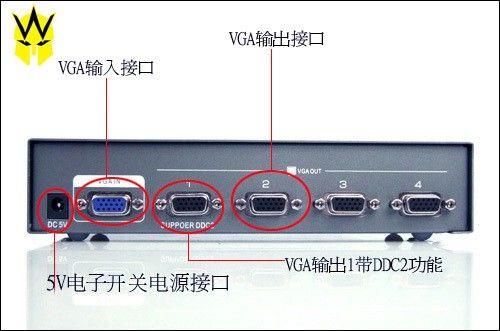 高清vga分频器:帝特250mhz系列视频分配器