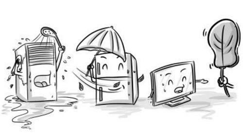 马克笔手绘冰箱