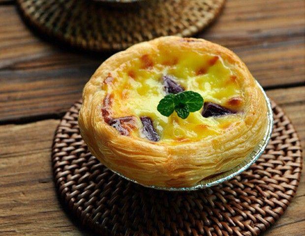 蛋挞的制作方法_紫薯蛋挞制作方法