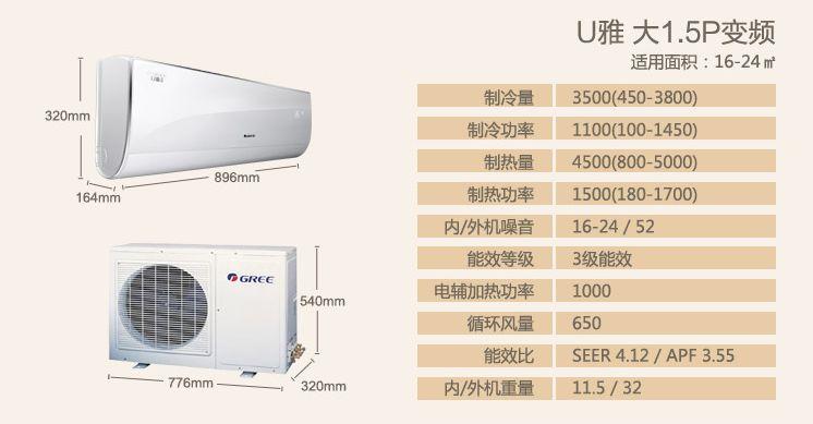 格力 kfr-35gw/(35582)fnca-a3空调采用新一代化霜cpu芯片,可根据管