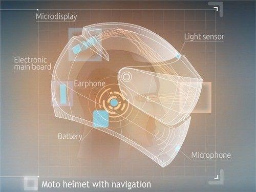 LiveMap智能摩托车头盔