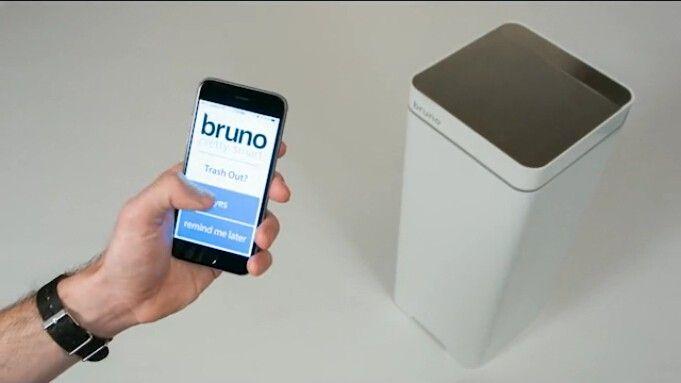 """垃圾""""扫入""""垃圾桶 bruno智能吸尘垃圾桶"""