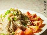 夏日美食之:爽口西红柿凉拌面制作法