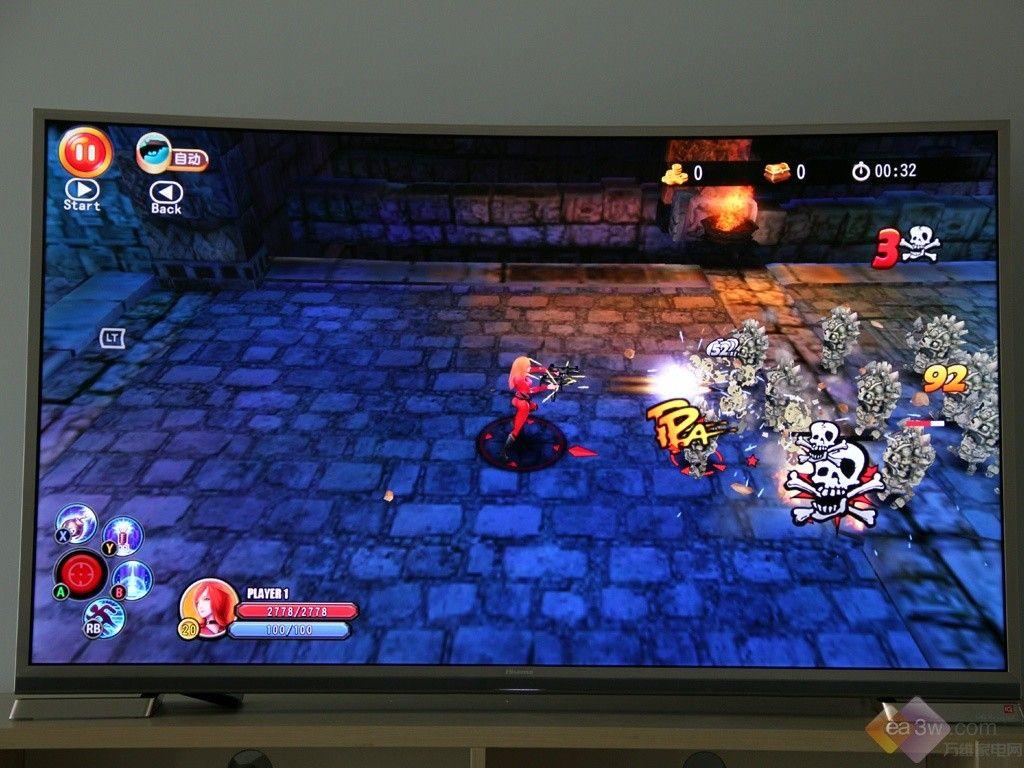 E评测:电视游戏新玩法 海信K7100热辣体验