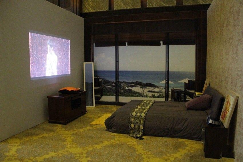 投影海洋主题卧室