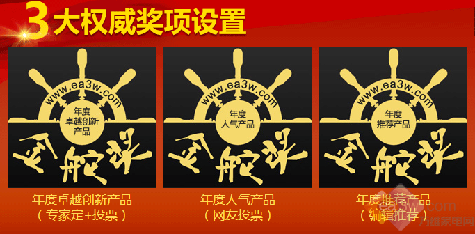 """万维家电网2017年度""""金舵奖""""投票通道开启"""