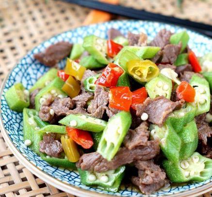 每日一道家常菜:秋葵泡椒炒牛肉