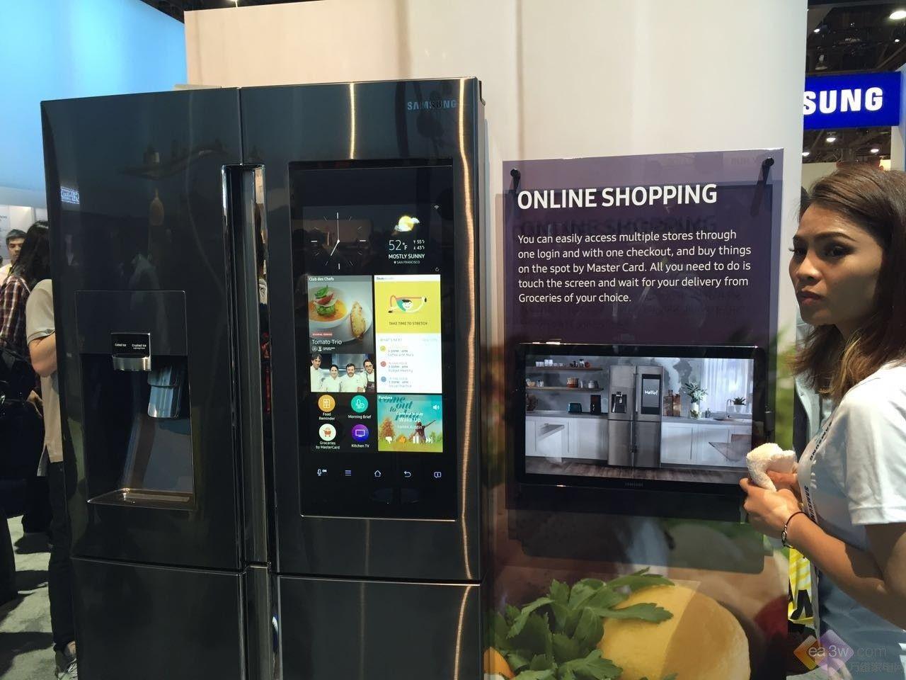 直击CES2016:三星发布Tizen系统智能冰箱