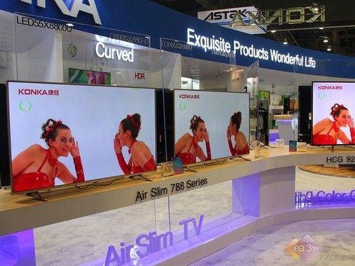 直击CES2016:康佳Air Slim TV超高清电视