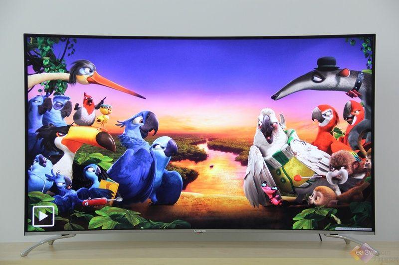 4K HDR超清影院 长虹55E9600曲面电视图赏