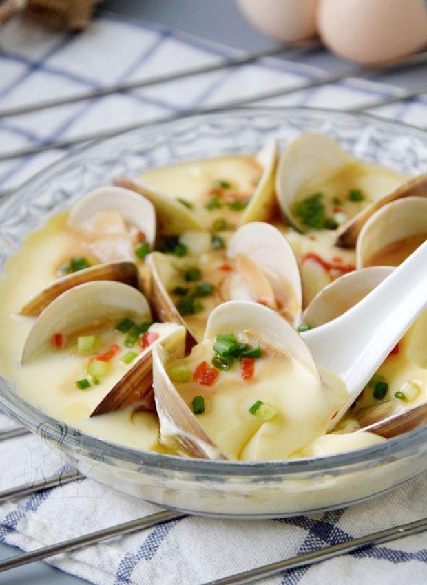 每日一道家常菜:蛤蜊蒸蛋