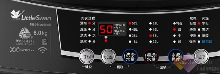 8KG变频波轮洗衣机 小天鹅为你解决洗衣难题