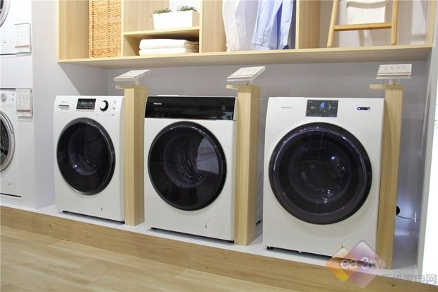 海信携多款滚筒洗衣机亮相