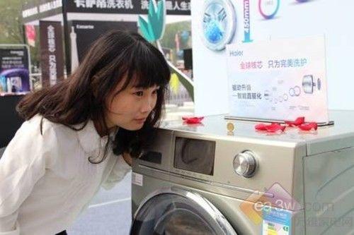 安静平稳海尔洗衣机与用户为洗衣服定新标准