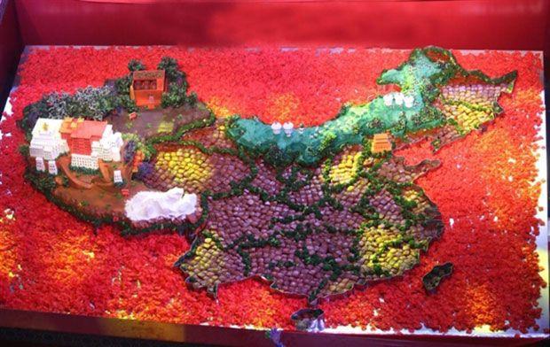 樱花欧式烟灶用它吃遍红烧肉版中国地图