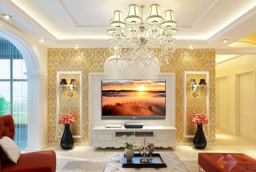 欧式客厅怎样变豪宅?一台激光电视解决问题
