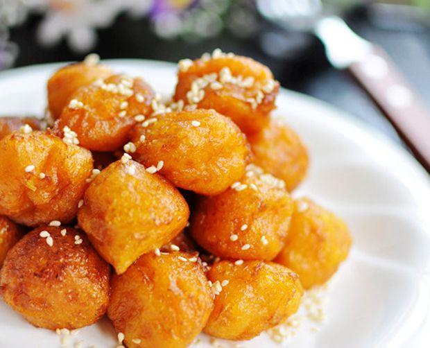 每日一道家常菜:炸红薯丸子