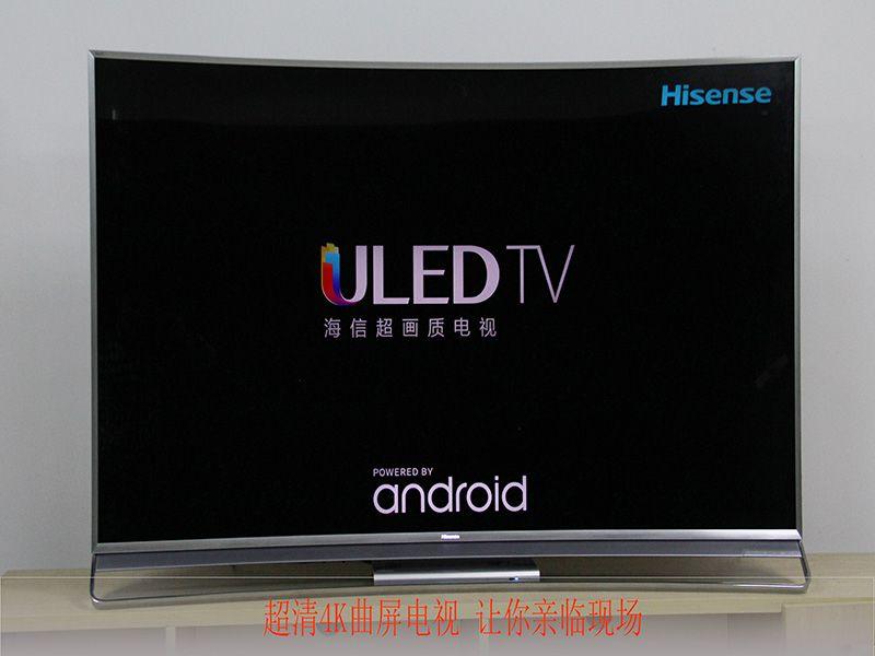 电视,纯正的黑色屏幕搭配银灰色的金属边框尽显质感