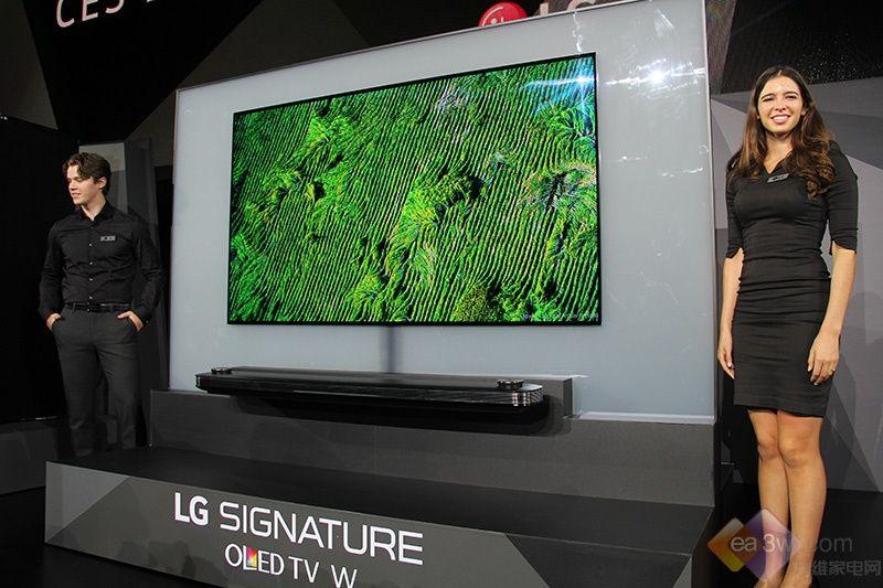 LG SIGNATURE W系列OLEDTV亮相CES 2017