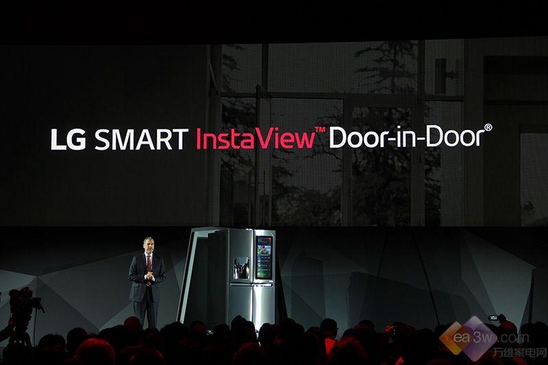 "可语音控制!LG""SMART INSTAVIEW""冰箱CES首发"