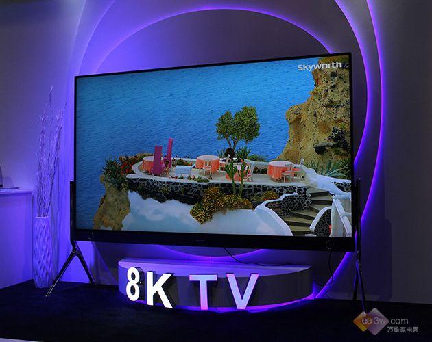 创维98寸8K电视亮相CES 颜值高视觉效果惊艳