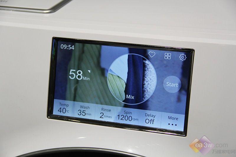 视频:海信旋瀑洗·致净洗衣机亮相CES