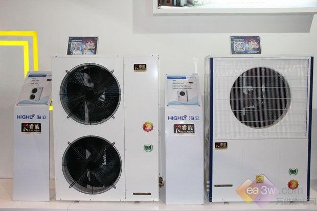 海立大功率低温采暖热泵机组亮相2017AWE