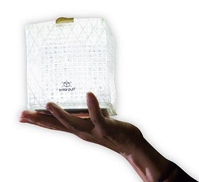 炫酷格调小灯笼  一个可折叠的太阳能灯