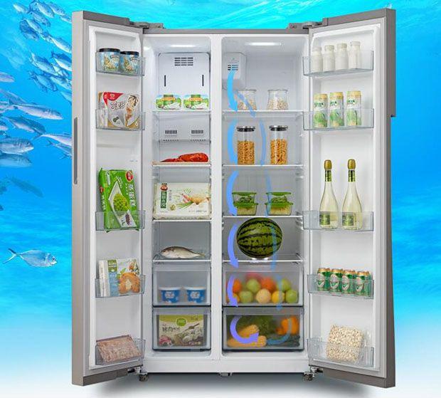 智能又保鲜 美的变频风冷对开门冰箱走俏