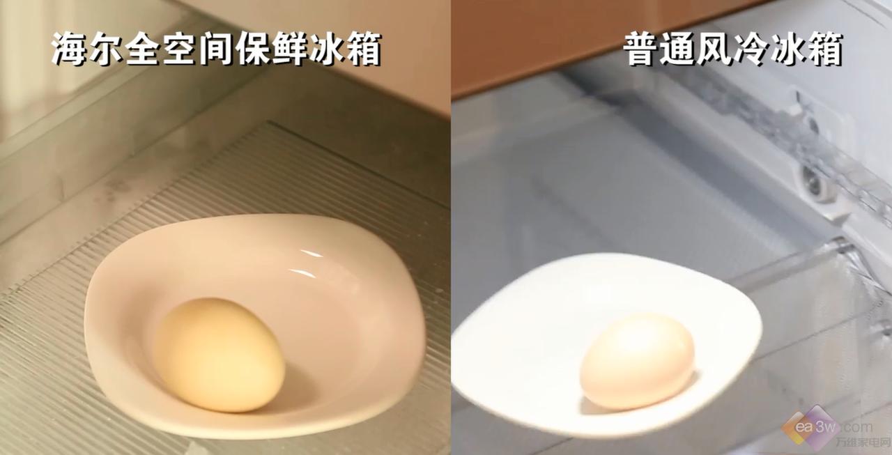 海尔全空间保鲜冰箱实验大挑战三:鸡蛋破裂