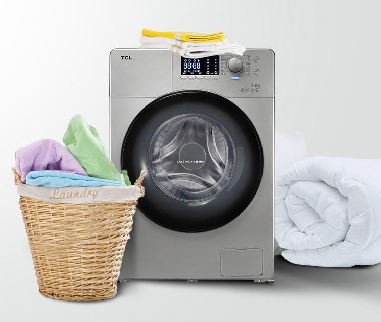 TCL XQGM85-FD3011HBP还有12种专业洗涤程序,5档位洗涤温度,5档位脱水转速,满足不同衣物对洗衣的要求,减少了衣物的磨损。同时它还采用第三代CIN变频技术,使得洗衣机洗衣效率高、损耗低、寿命更长。它细节处还体现出更多的人性化设计,比如,童锁,加大号液晶面板以及分类洗涤盒还有U型防震花纹设计和双层防烫罩设计,更多的从用户的角度出发。 现在随着科技的发展,洗衣行业也有越来越多的产品,很多人甚至不知道有什么产品,产品有什么功能,功能有什么用,所以我推荐,经常洗衣服的朋友可以考虑以上几款。