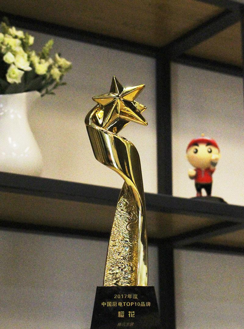 SAKURA樱花获2017年中国厨电TOP10,开创家居新时代