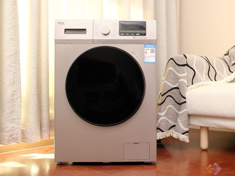 时尚皓月银设计,TCL免污滚筒洗衣机真机图赏