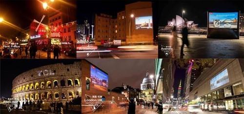 TCL全球创意投影广告刷亮六国 世界品牌才是大国品牌