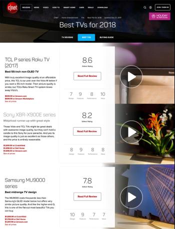 TCL电视获CNET权威认可  创新科技产品力耀眼全球